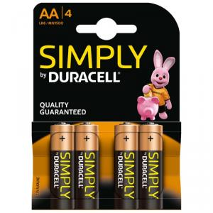 pilas-alcalinas-duracell-simply-lr6-aa-blister-4-unid
